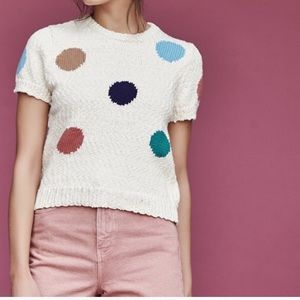 Callahan Knit Polka Dot Top